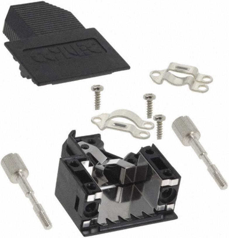 D-SUB púzdro Conec 165X00789XE 165X00789XE, počet pinov: 15, plast, 45 °, čierna, 1 ks