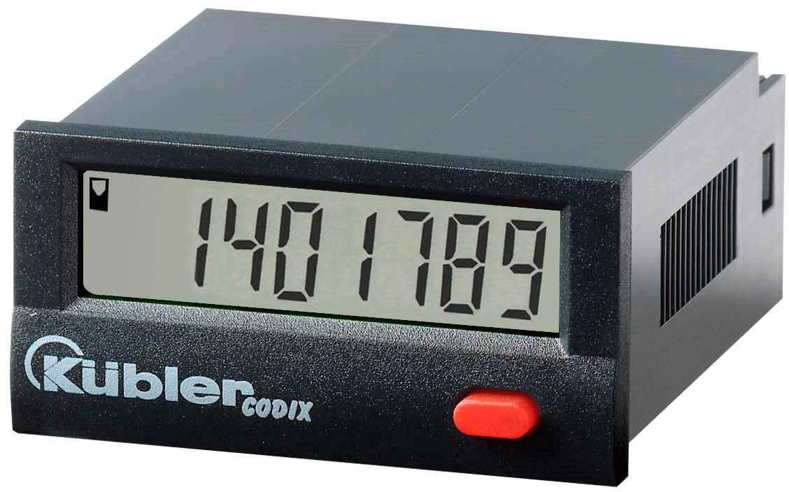 LCD počítadlo prevádzkových hodín Kübler CODIX 141