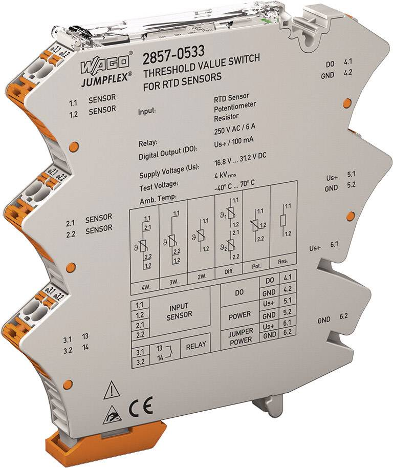 RTD-přepínač mezních hodnot JUMPFLEX WAGO 2857-533 1 ks