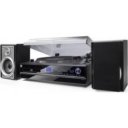 USB gramofon Dual NR 100, řemínkový pohon, černá