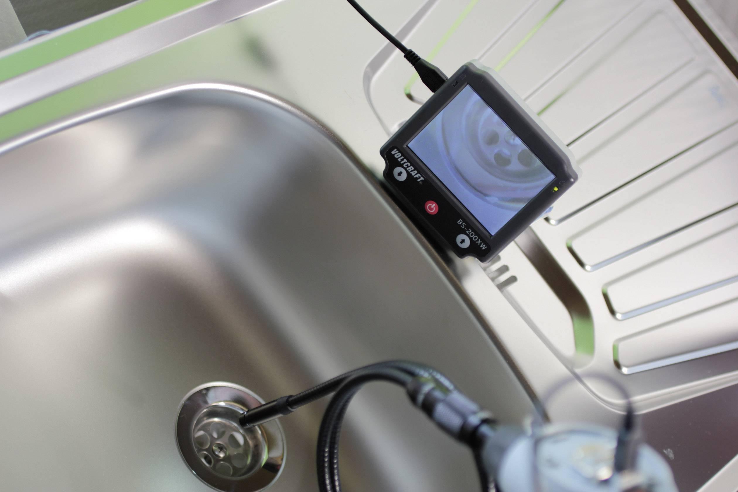 Endoskop VOLTCRAFT BS-200XW, Ø sondy: 9.8 mm, dĺžka sondy: 88 cm