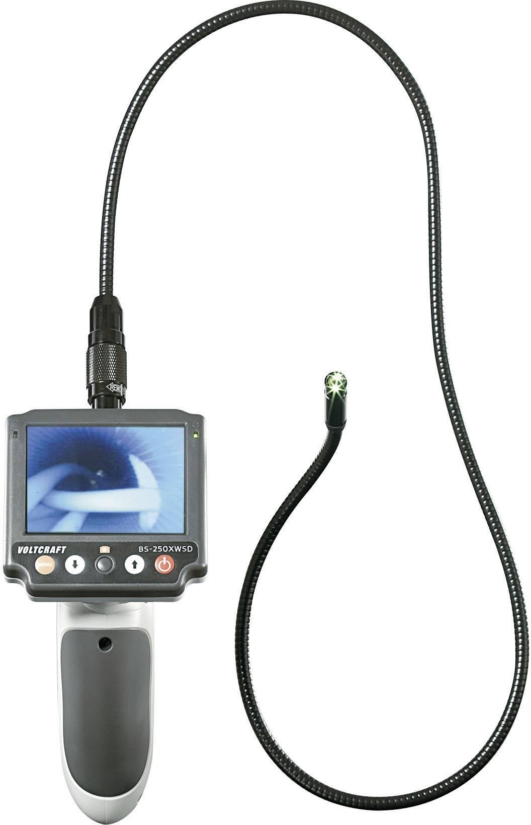 Endoskop VOLTCRAFT BS-250XWSD s odnímateľným displejom a slotom pre microSD kartu