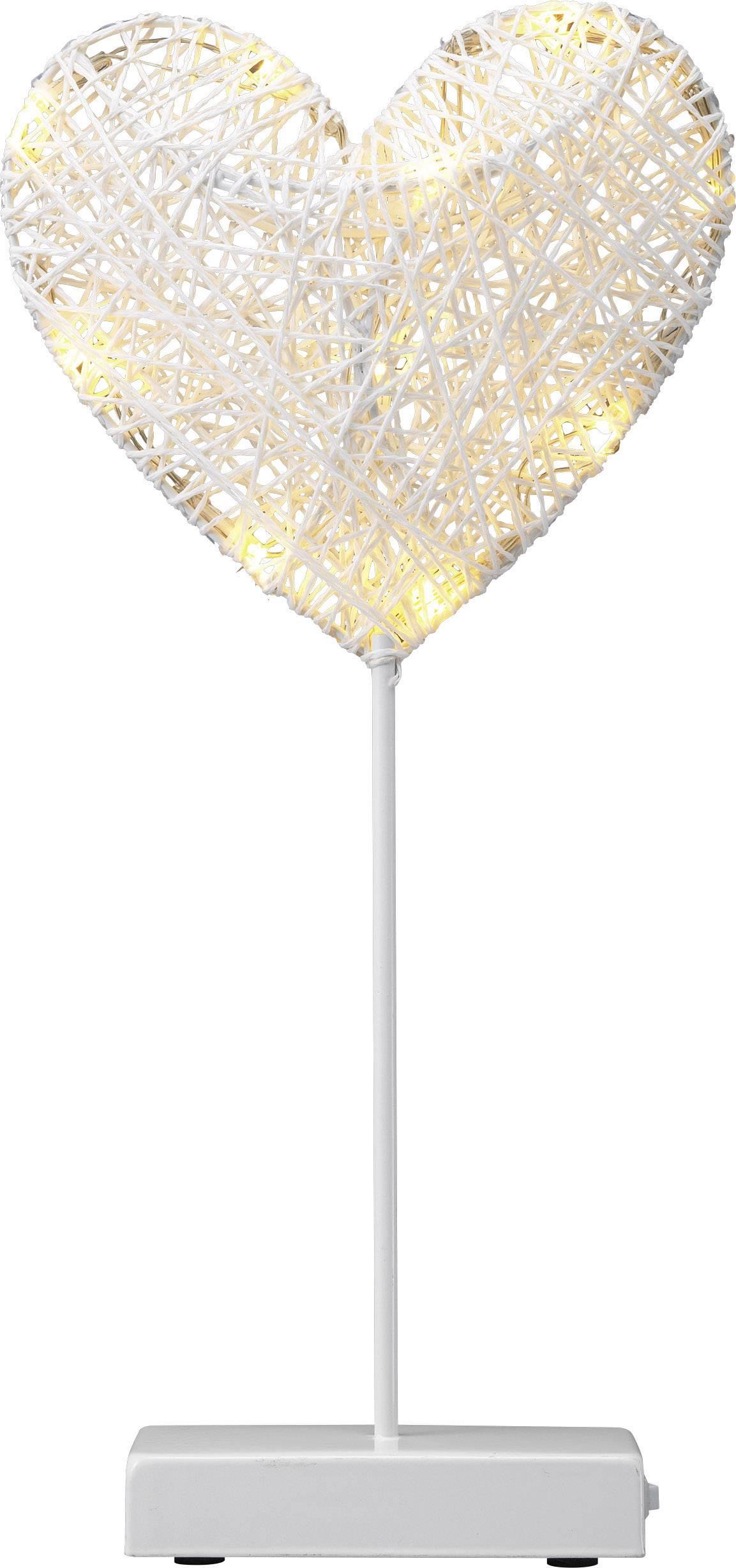 Srdce LED vianočná dekorácia Polarlite 1233510, biela