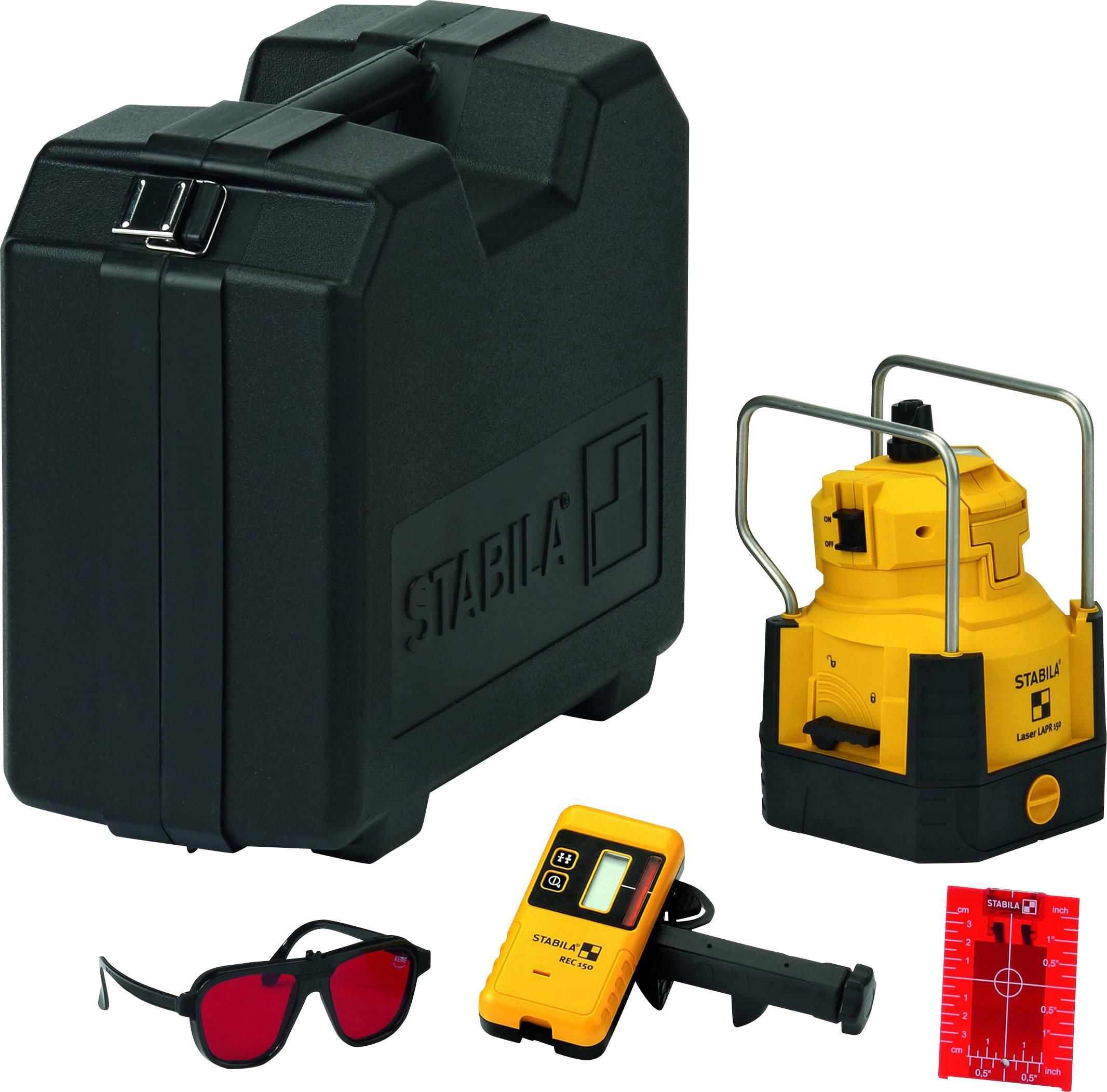 Rotační laser samonivelační Stabila LAPR 150, dosah (max.): 240 m, Kalibrováno dle: podnikový standard (bez certifikátu) (own)