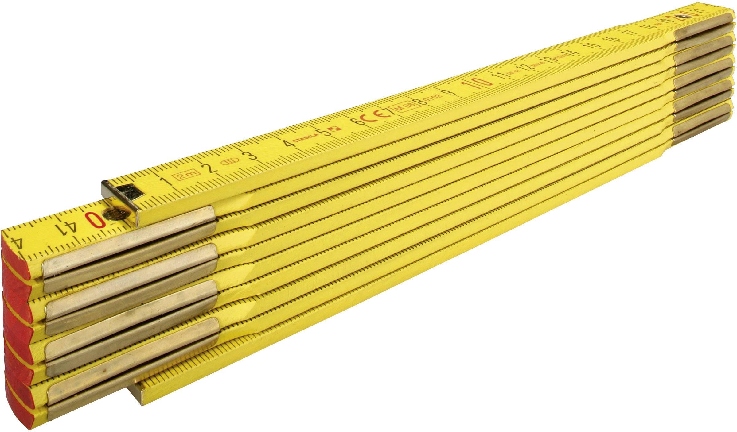 Skládací metr 2 m Stabila 907 907, bukové dřevo