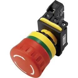 Núdzový vypínač s kontaktným prvkom DECA A20B-V4E11R, 240 V/AC, 6 A