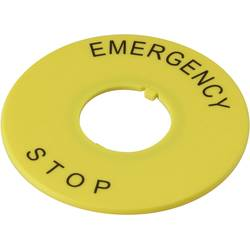Označovací štítek EMERGENCY STOP DECA A2AV-27 1233798, žlutá, 1 ks