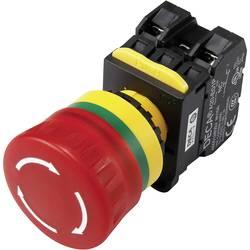 Nouzový vypínač s kontaktním prvkem DECA A20L-V4E20Q6R, 240 V/AC, 6 A