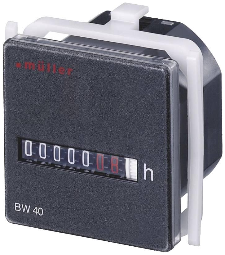 Počítadlo prevádzkových hodín Müller BW4018, 7 miestne