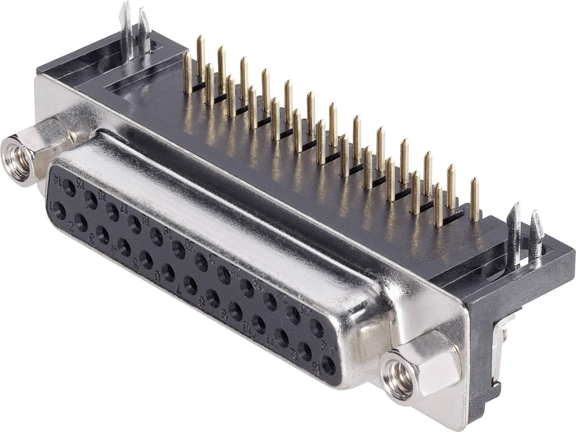 D-SUB zásuvková lišta TRU COMPONENTS 90 °, počet pinov 9, tlačené zahnuté, 1 ks