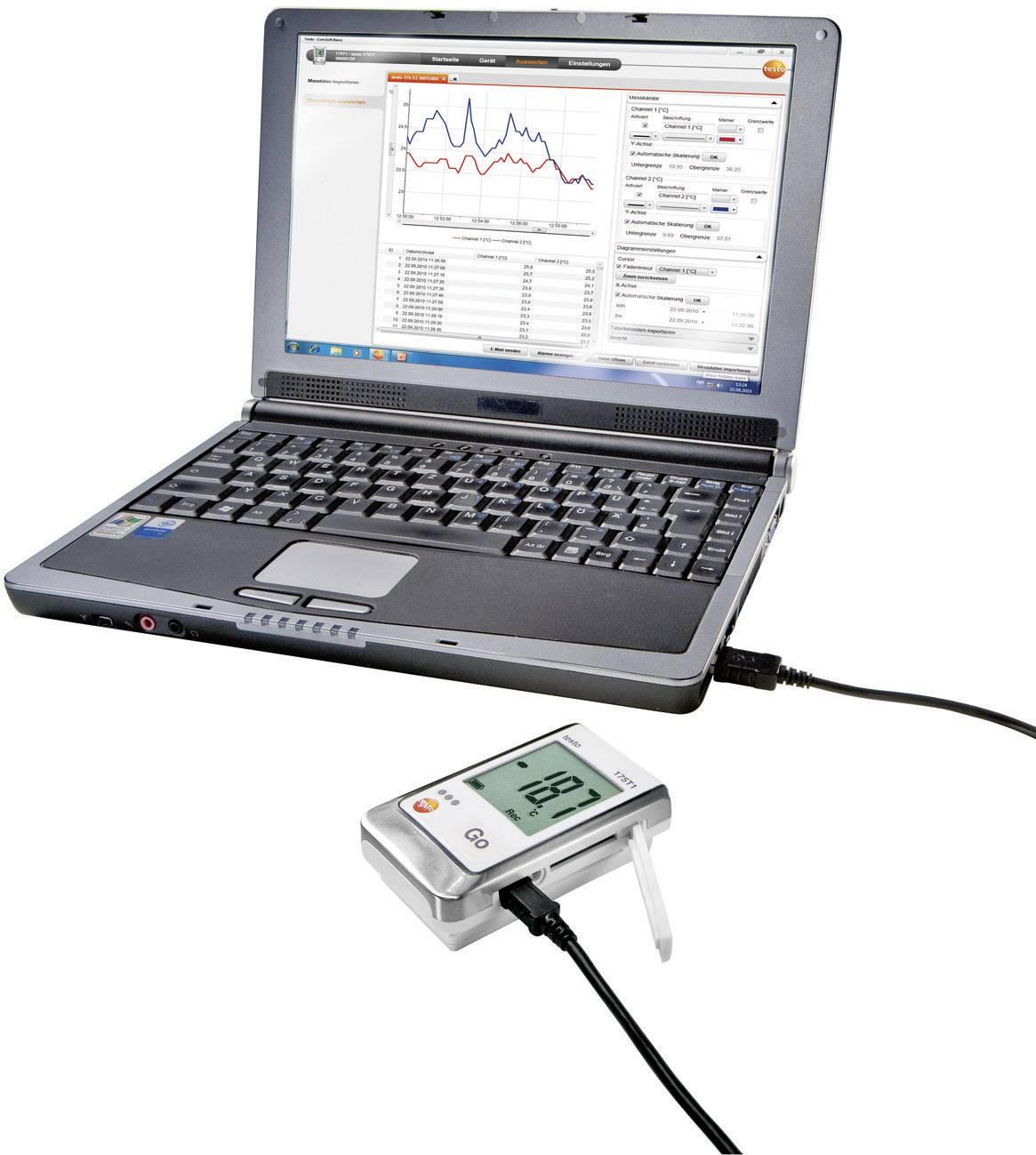 Teplotný datalogger testo 175 T2, -35 až +55 °C vo vnútri, -40 až +120 °C vonku