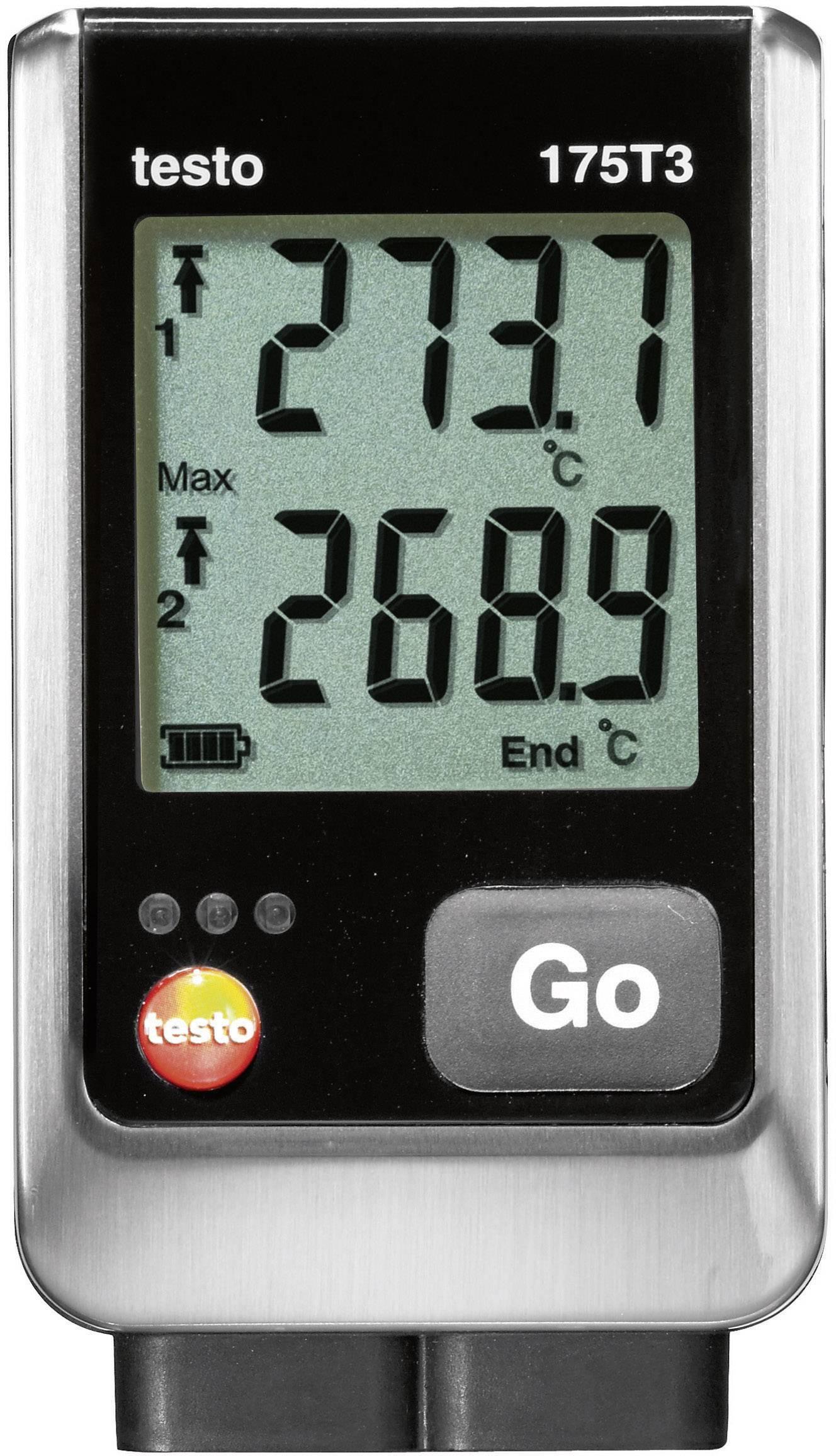 Teplotný datalogger testo 175 T3, -50 až +400 °C Typ T, -50 až +1000 °C Typ K