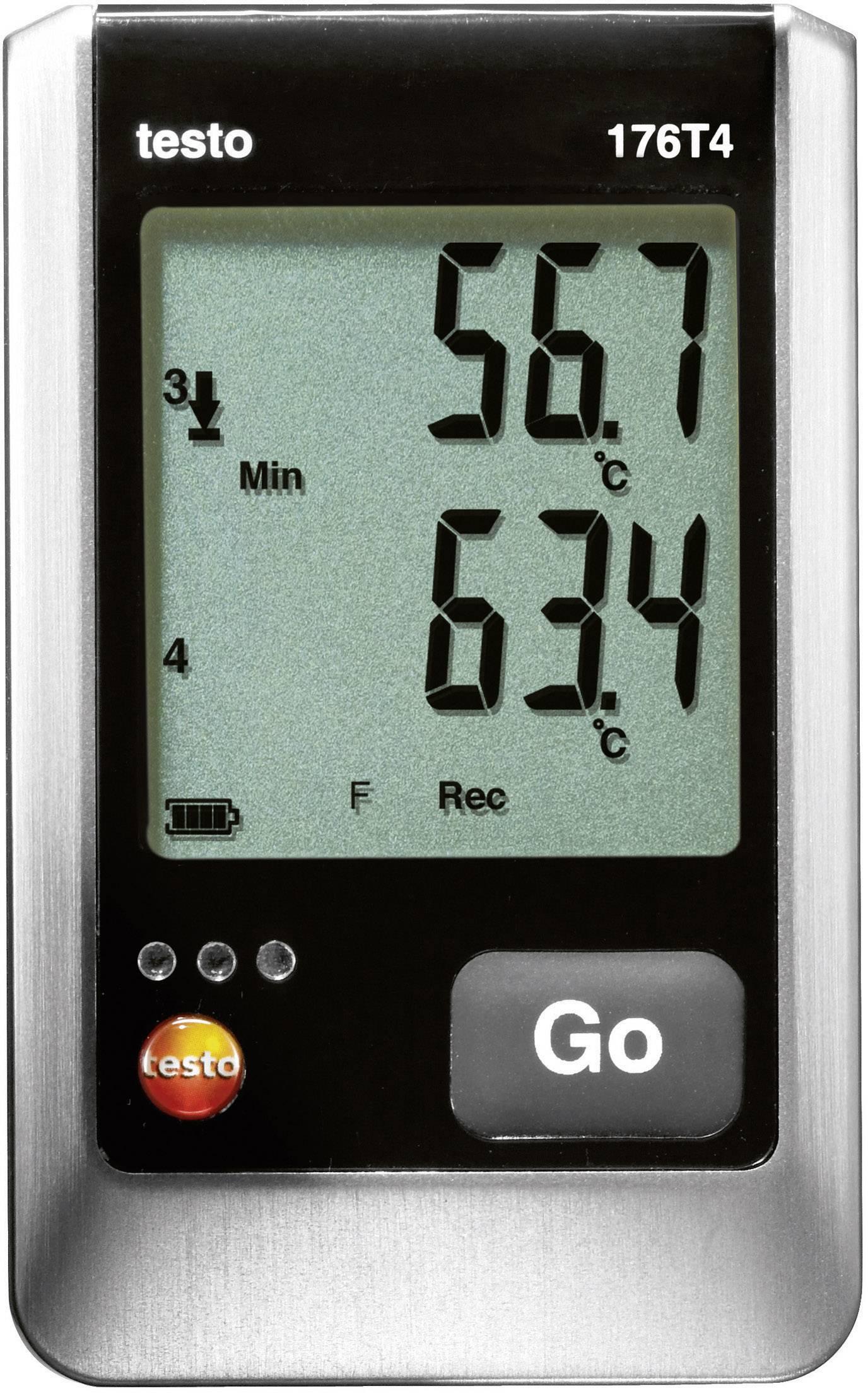 Teplotný datalogger testo 176-T4, -200 až +400 °C Typ T, -195 až +1000 °C Typ K