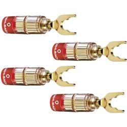 Konektor reproduktora zástrčka, rovná Oehlbach 3023, zlatá, 4 ks