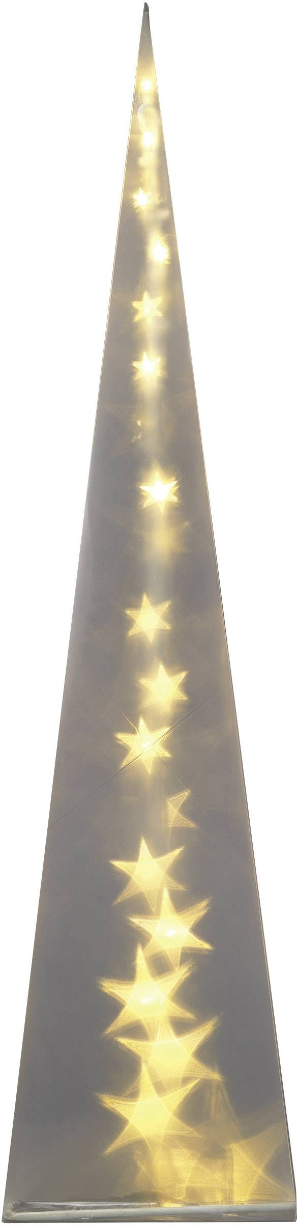 Pyramída LED vianočná dekorácia Polarlite PDE-04-002, priehľadná
