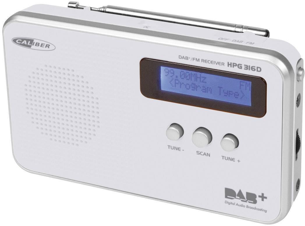 DAB+ rádio Caliber HPG 316D, FM, biele