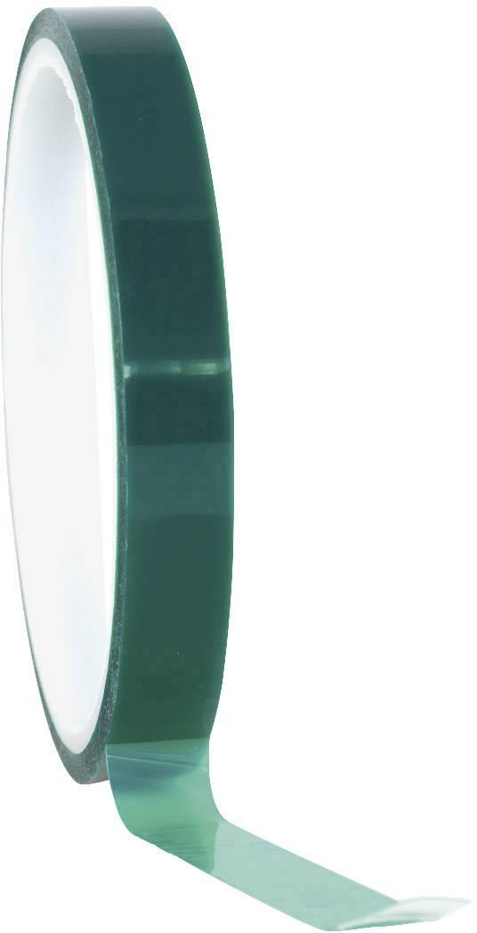 Polyesterová lepicí páska Toolcraft 291B12L66C, 66 m x 12 mm, zelená