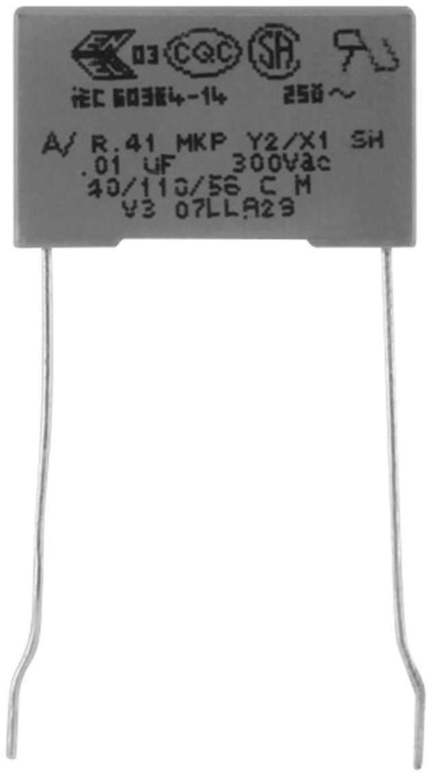 Odrušovací kondenzátor MKP radiálne vývody Kemet R413F11000000M+, 1 nF, 300 V, 20 %, 1 ks