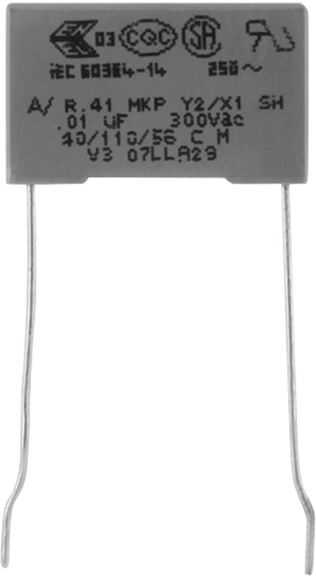 Odrušovací kondenzátor MKP Kemet R413F13300000M+ radiální, 3.3 nF, 300 V,20 %, 10 mm, (d x š x v) 13 x 4 x 9 , 1 ks