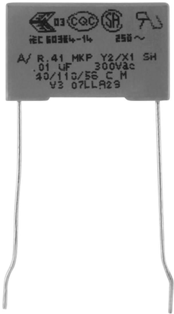 Odrušovací kondenzátor MKP radiálne vývody Kemet R413F12200000M+, 2.2 nF, 300 V, 20 %, 1 ks