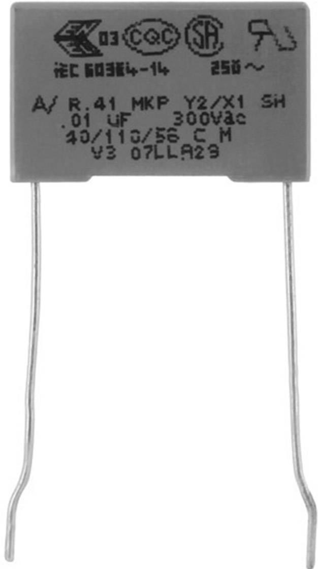 Odrušovací kondenzátor MKP radiálne vývody Kemet R413F147000M1M+, 4.7 nF, 300 V, 20 %, 1 ks