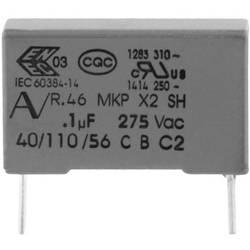 Odrušovací kondenzátor MKP radiální Kemet R46KR410000M1M+, 1 µF, 275 V, 20 %, 1 ks