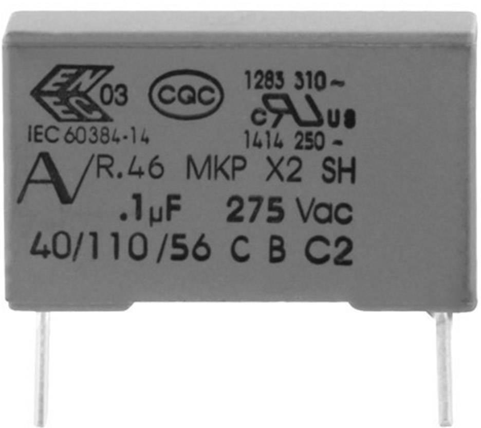 Odrušovací kondenzátor MKP Kemet R46KI24700001M+ radiální, 47 nF, 275 V,20 %, 15 mm, (d x š x v) 18 x 5 x 11 , 1 ks