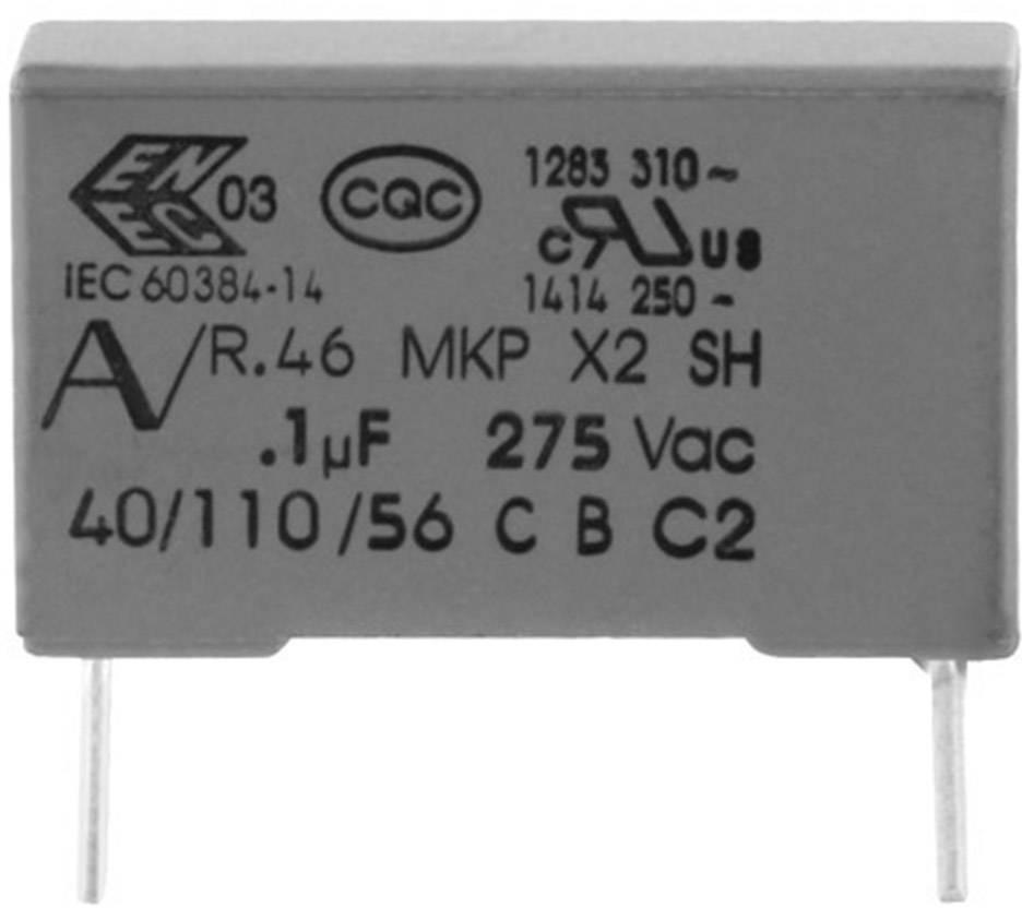 Odrušovací kondenzátor MKP radiálne vývody Kemet R46KR415045M1K+, 1.5 µF, 275 V, 20 %, 1 ks