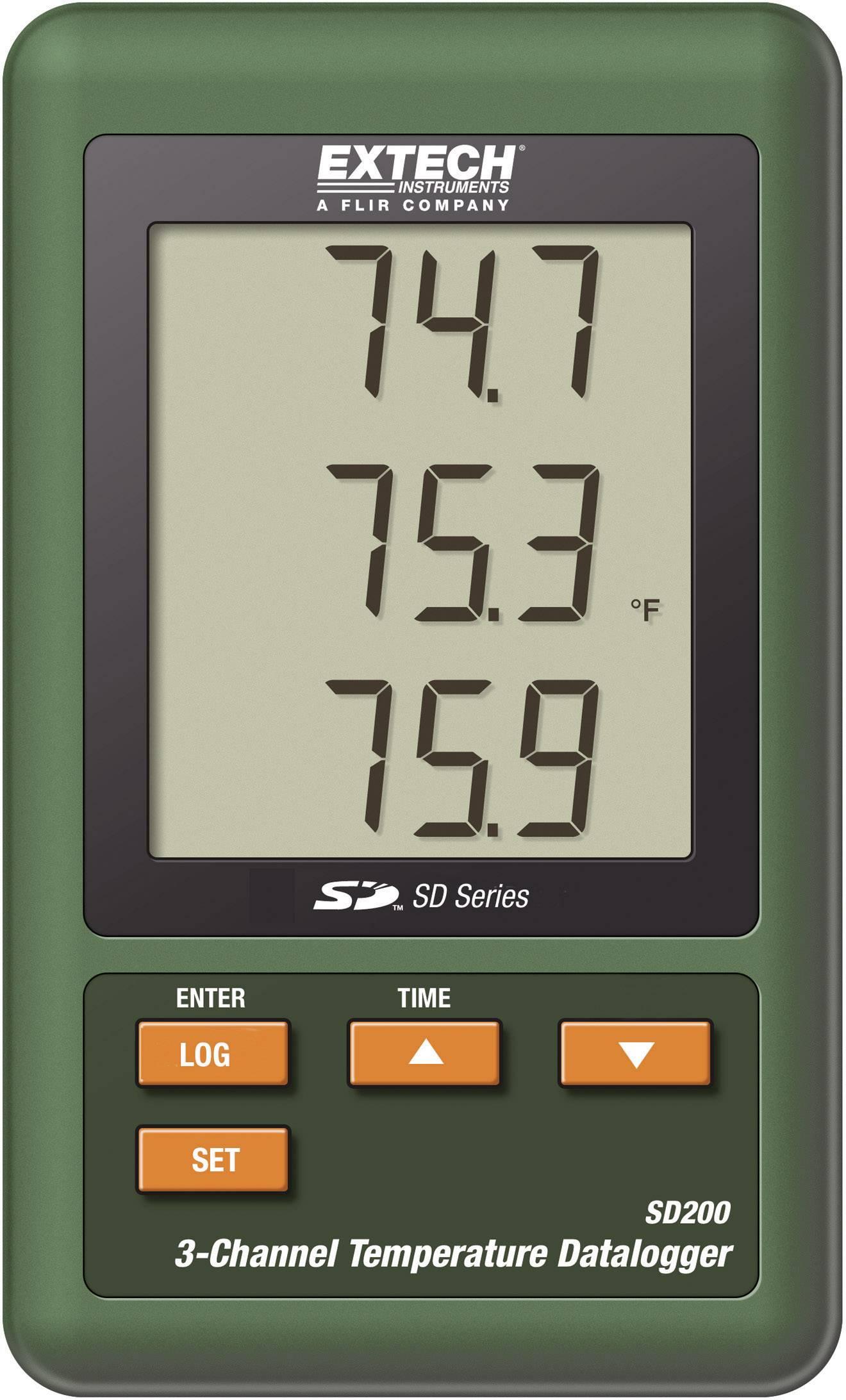 Tříkanálový teploměr s dataloggerem Extech SD200