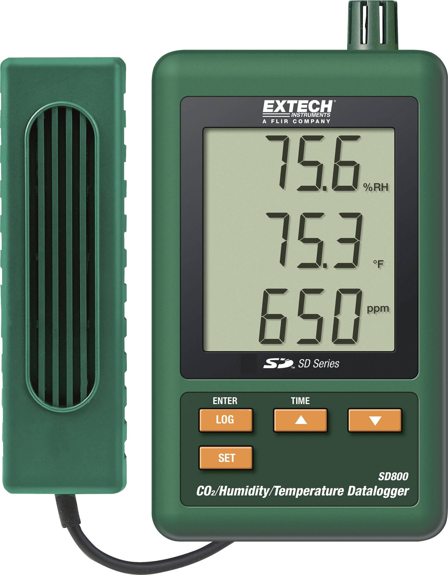 Datalogger Extech SD800, CO2, teplota, vlhkosť