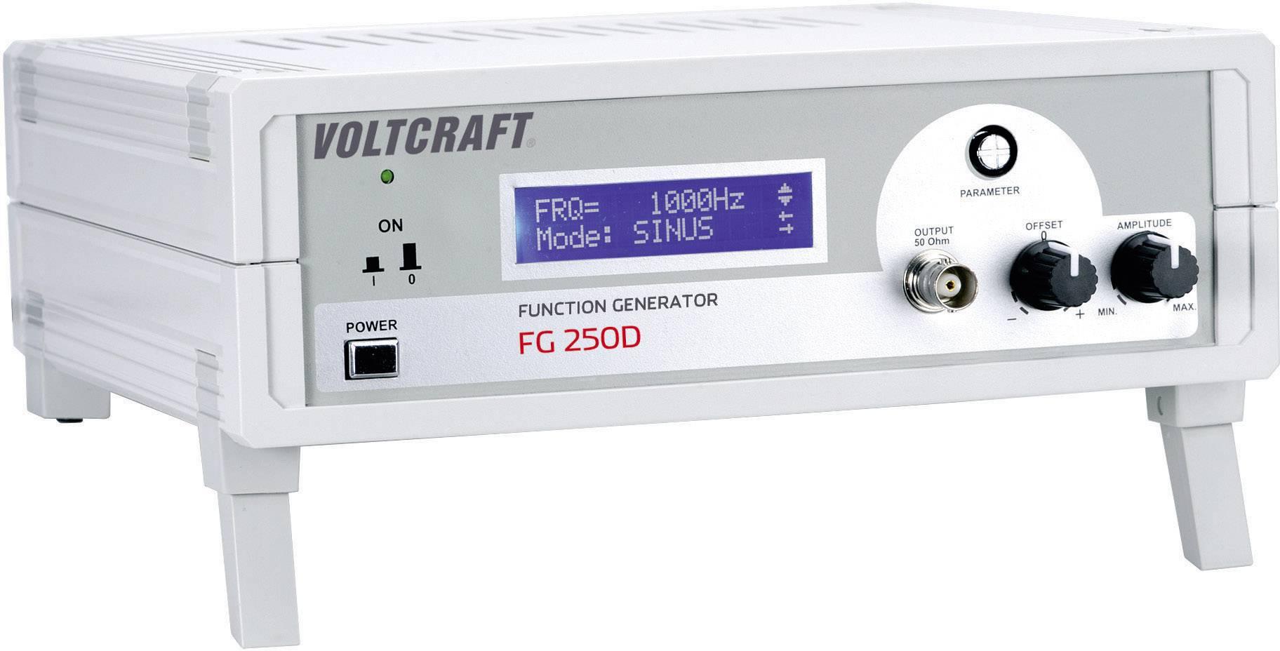 Generátor funkcí Voltcraft FG-250D, 1 Hz - 250 kHz