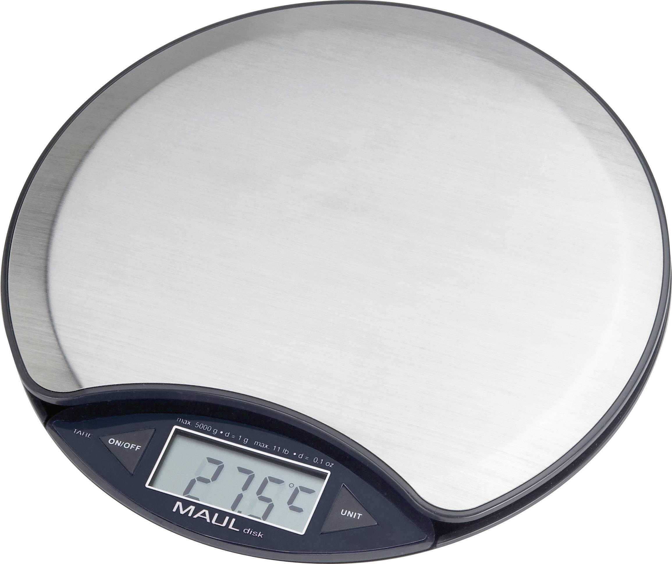 Stolní váha na dopisy Maul, 5 kg, kulatá, kalibrováno dle ISO