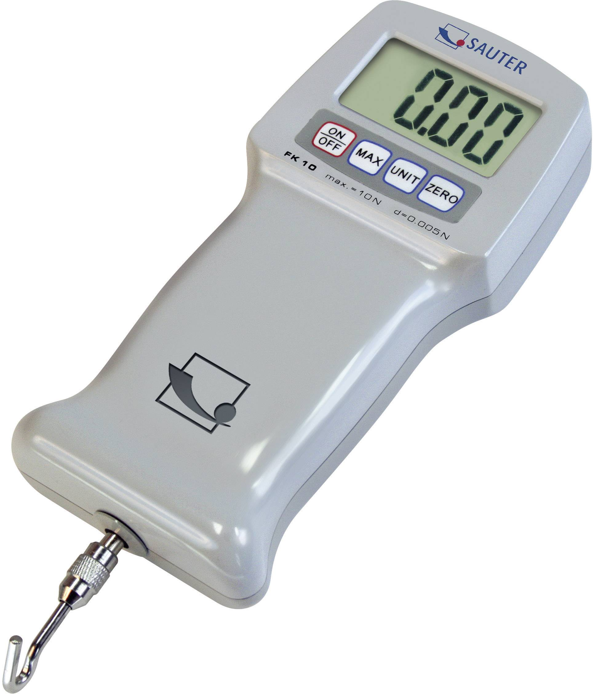 Digitální siloměr Sauter FK 1K, 1000 N, kalibrace dle ISO, kalibrováno dle ISO