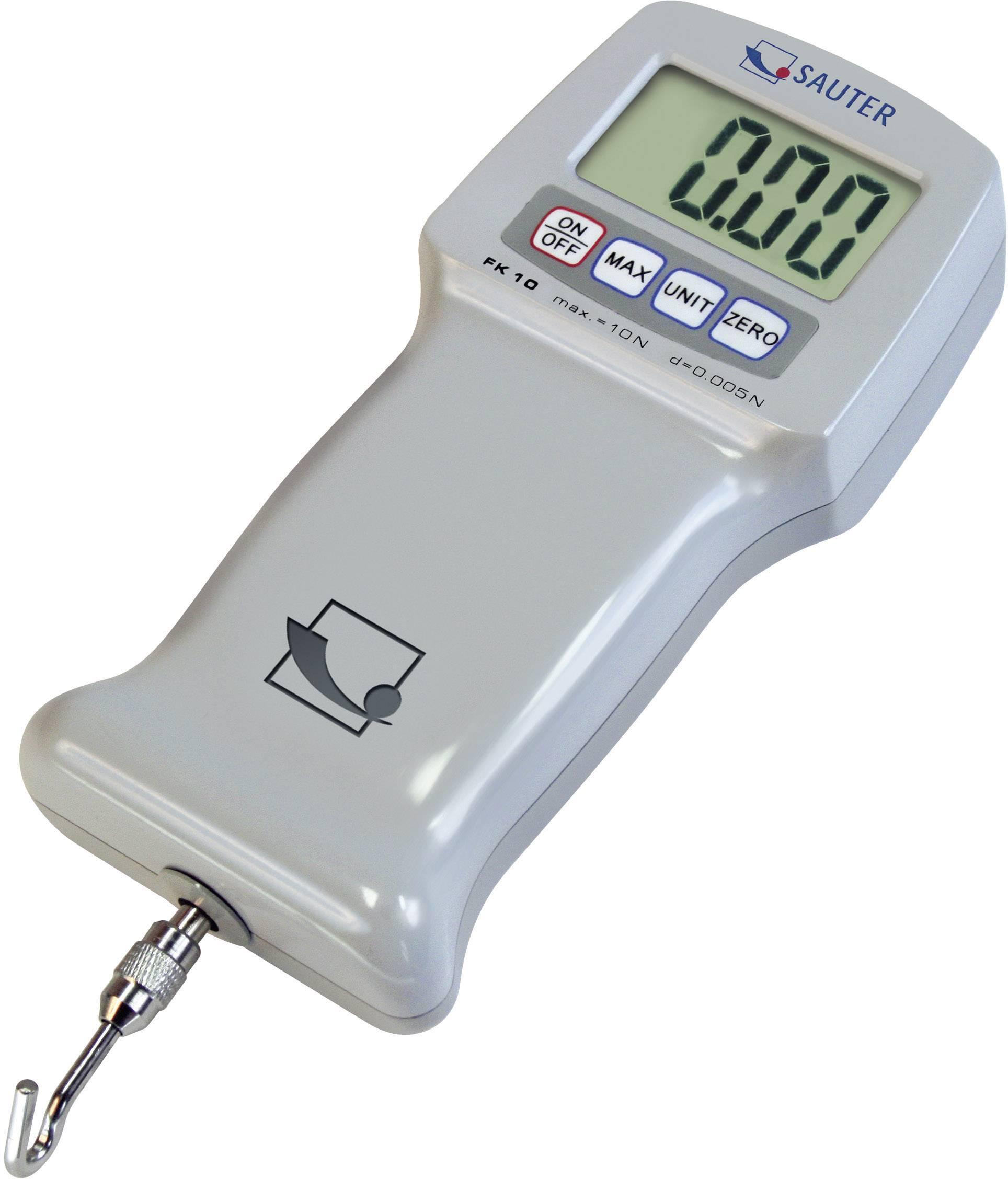 Digitální siloměr Sauter FK 500, 500 N, kalibrace dle ISO, kalibrováno dle ISO