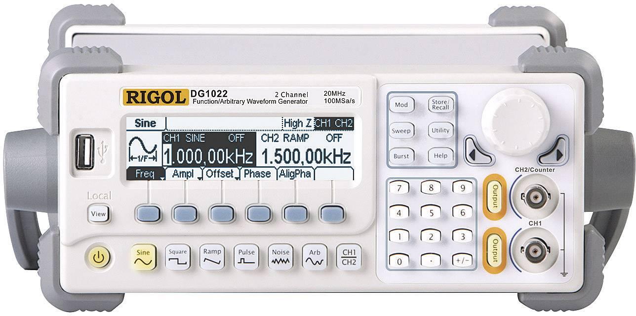 Arbitrárny generátor Rigol DG1022 s technológiou DDS