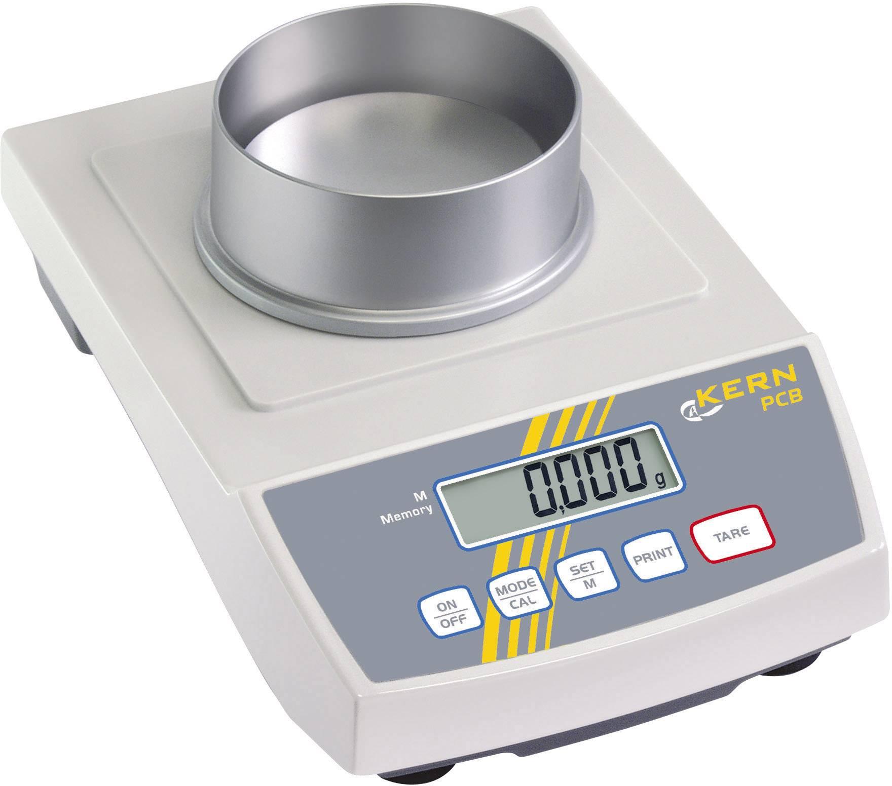 Přesná váha Kern KB 240-3N, rozlišení 0.001 g, max. váživost 240 g, Kalibrováno dle ISO