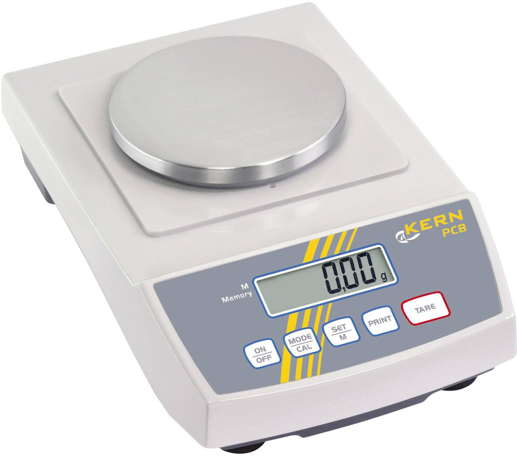 Přesná váha Kern PCB 250-3, rozlišení 0.001 g, max. váživost 250 g, Kalibrováno dle ISO