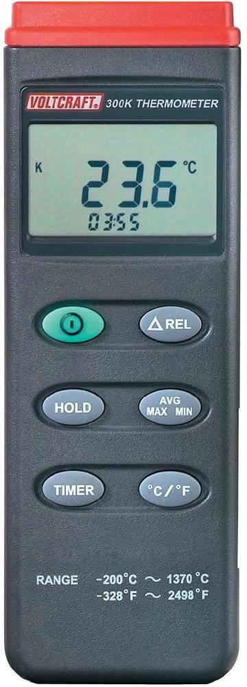 Teploměr VOLTCRAFT K204 datalogger K204, -200 až +1370 °C, typ senzoru K, Kalibrováno dle: ISO