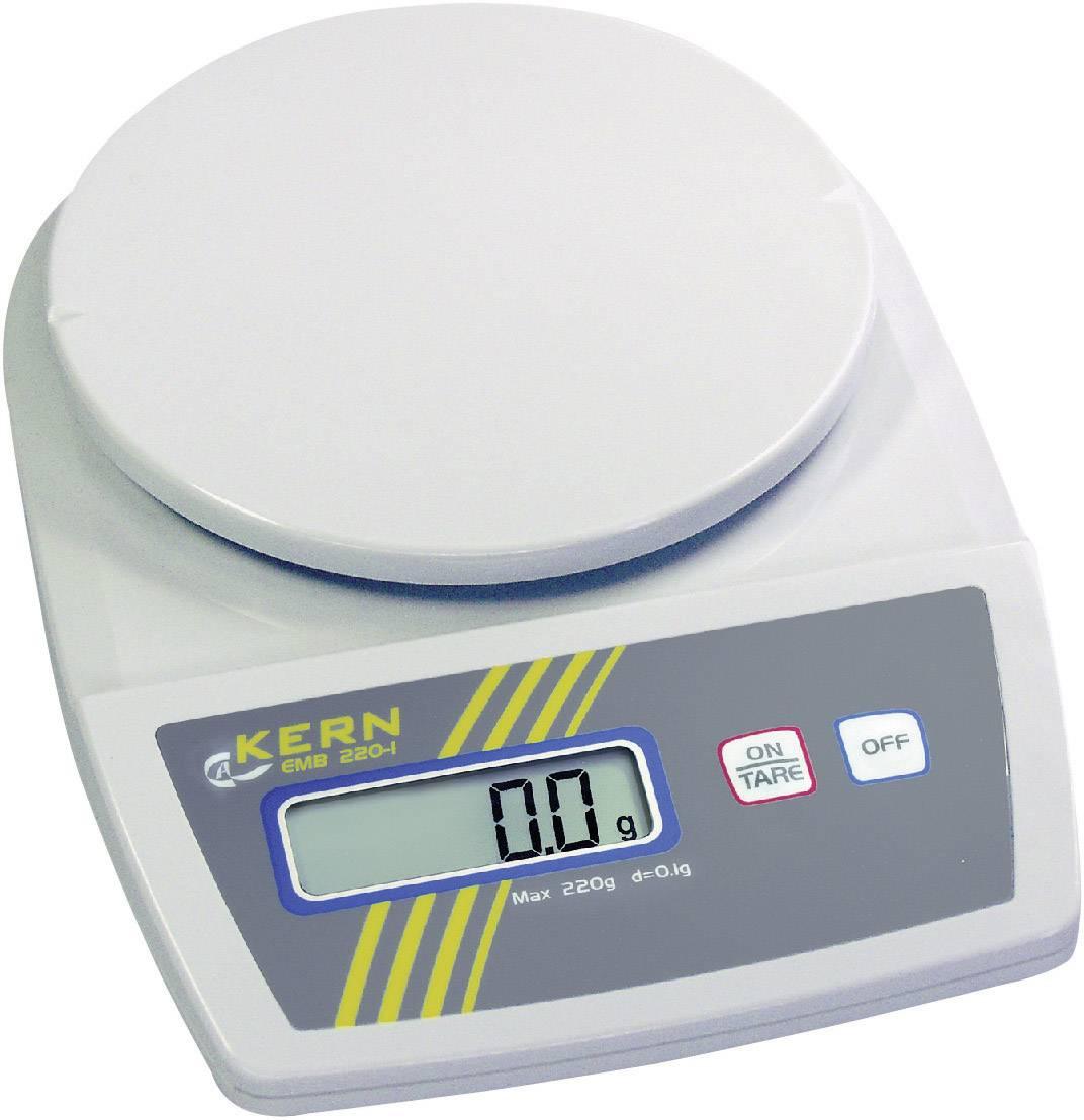 Váha na listy Kern EMB 1200-1, presnosť 0.1 g, max. váživosť 1.2 kg