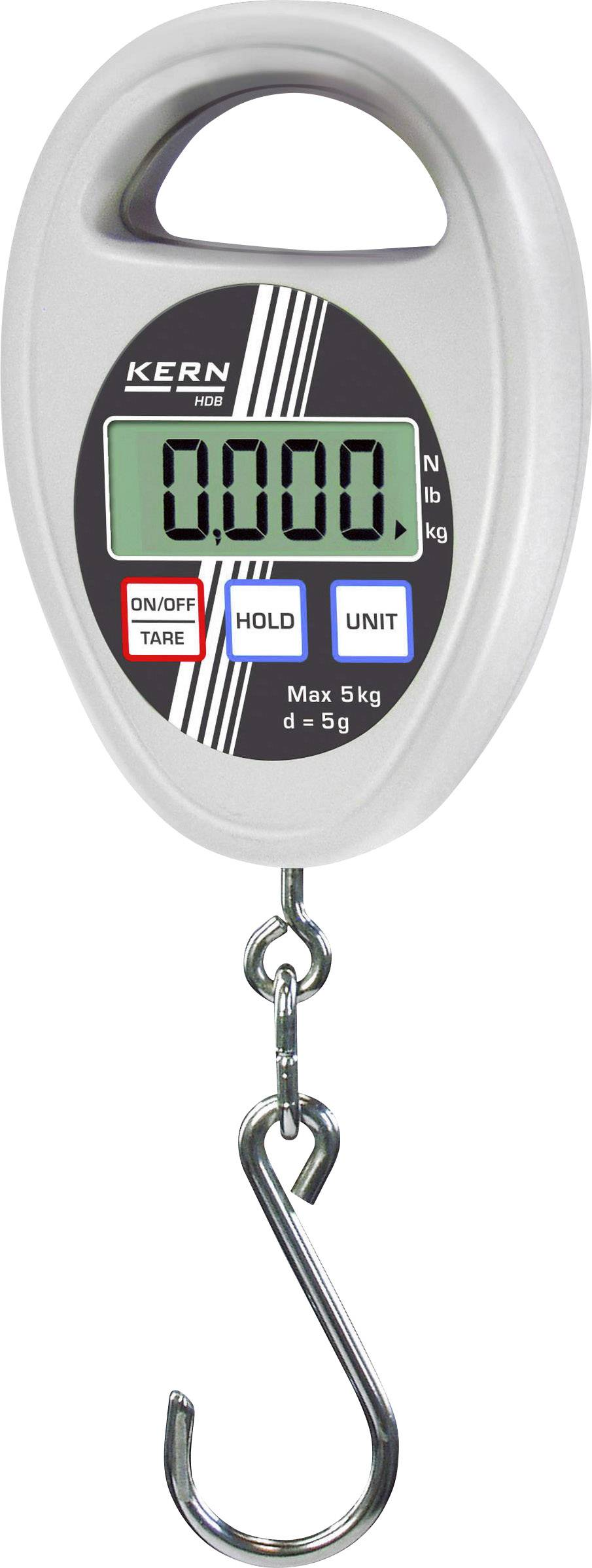 Závěsná váha Kern max. váživost 5 kg rozlišení 5 g