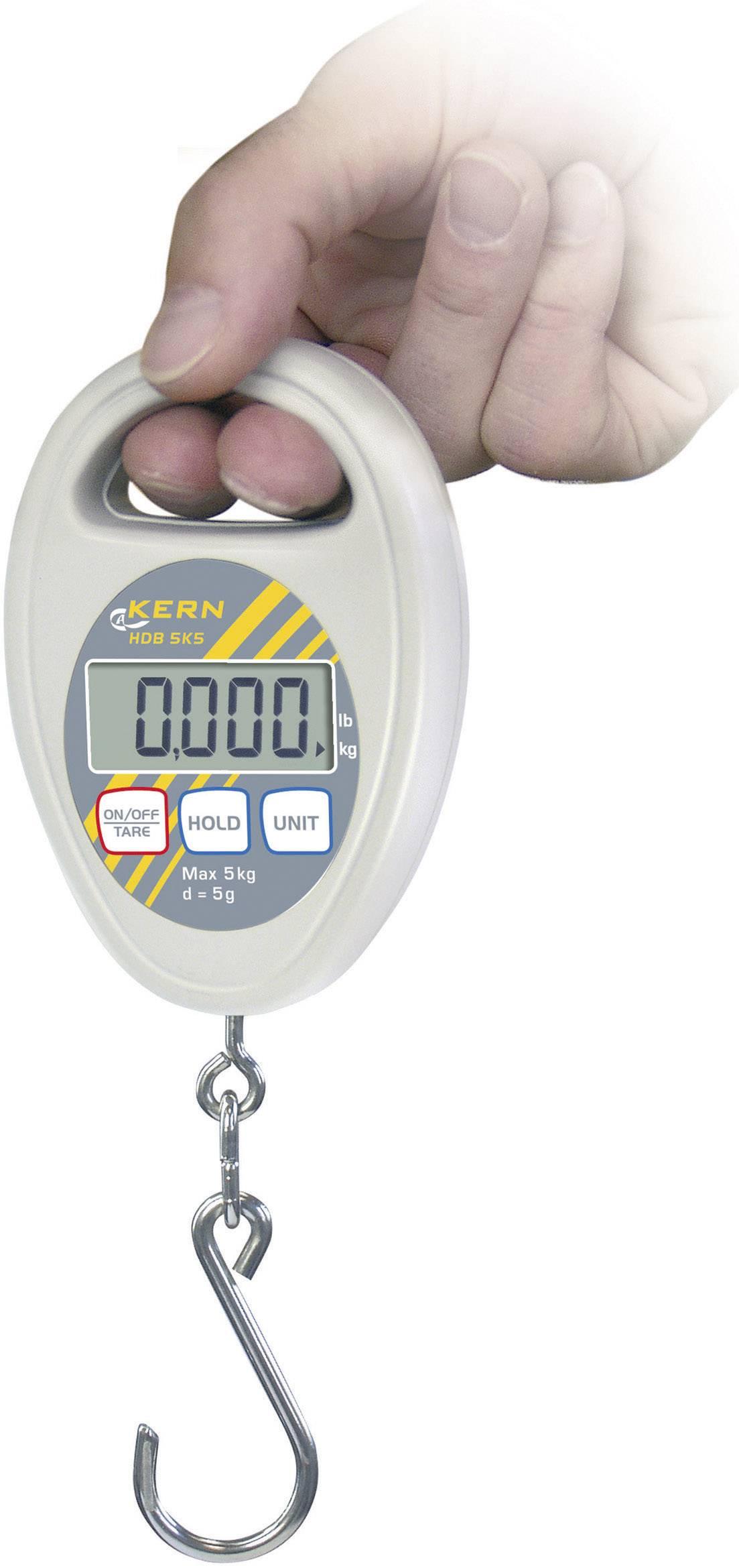 Závěsná váha Kern Max. váživost 10 kg, Rozlišení 10 g Kalibrováno dle ISO
