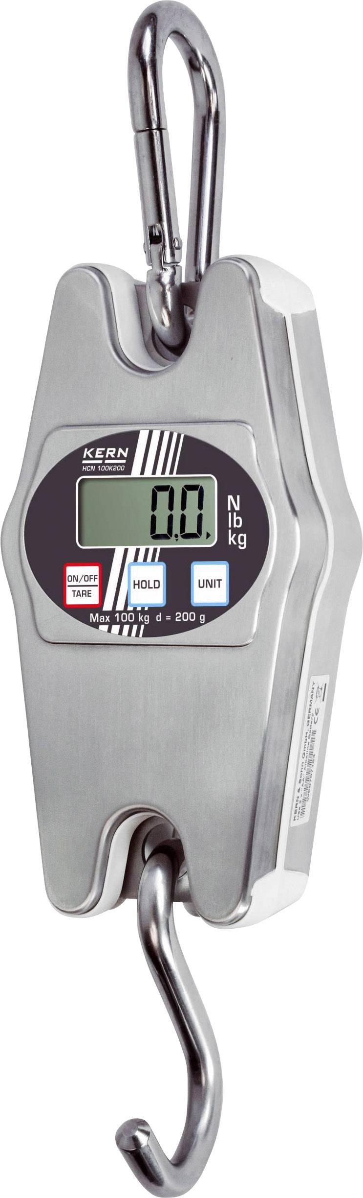 Závěsná váha Kern Max. váživost 200 kg, Rozlišení 500 g Kalibrováno dle ISO