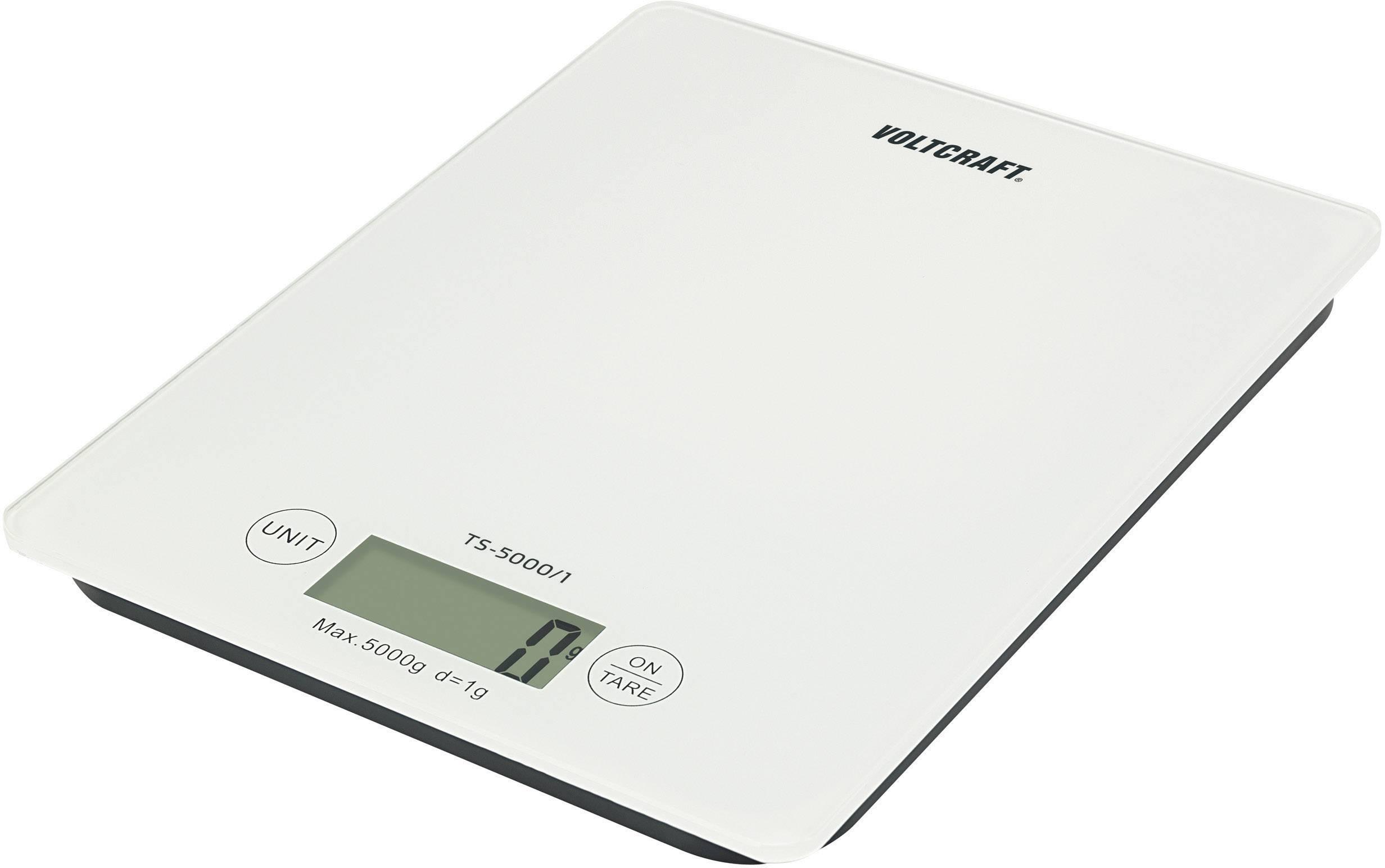 Váha na dopisy VOLTCRAFT TS-5000/1 Max. váživost 5 kg Rozlišení 1 g na baterii bílá