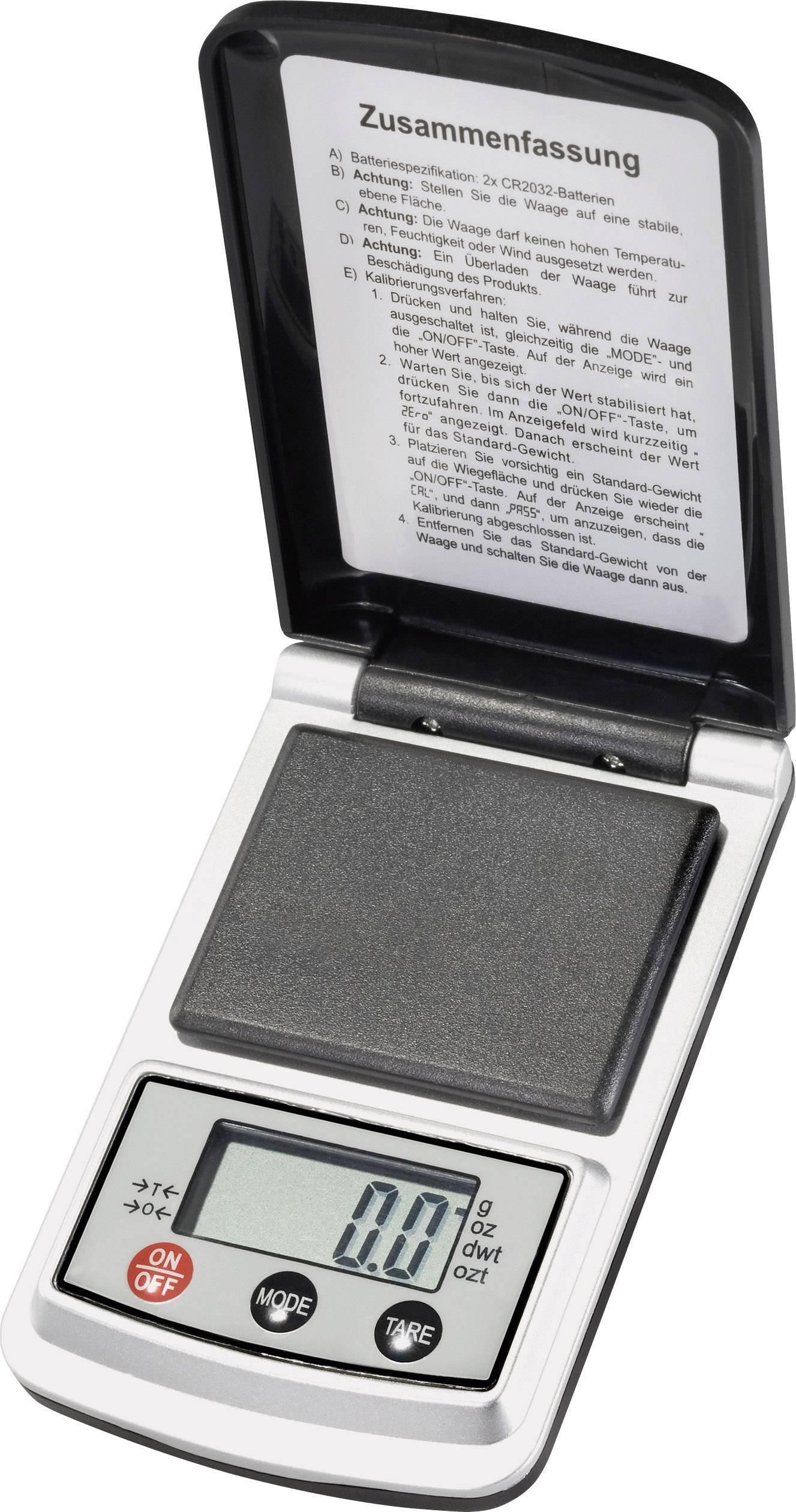 Vrecková váha VOLTCRAFT PS-200B, presnosť 0.1 g