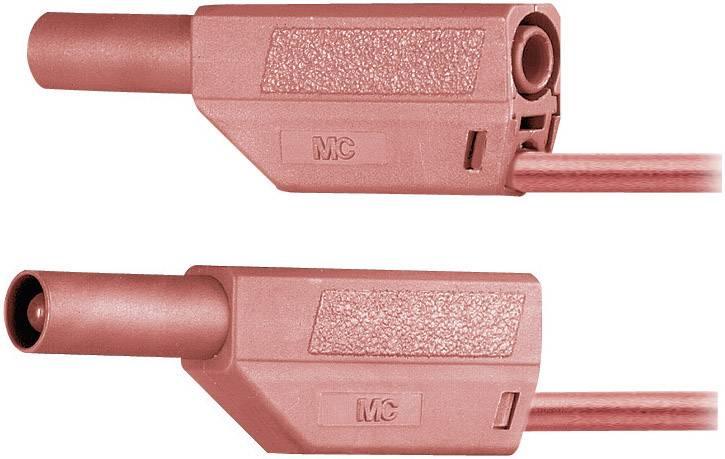 Bezpečnostné meracie káble Multicontact SLK425-E PVC, 0,25 m, červené