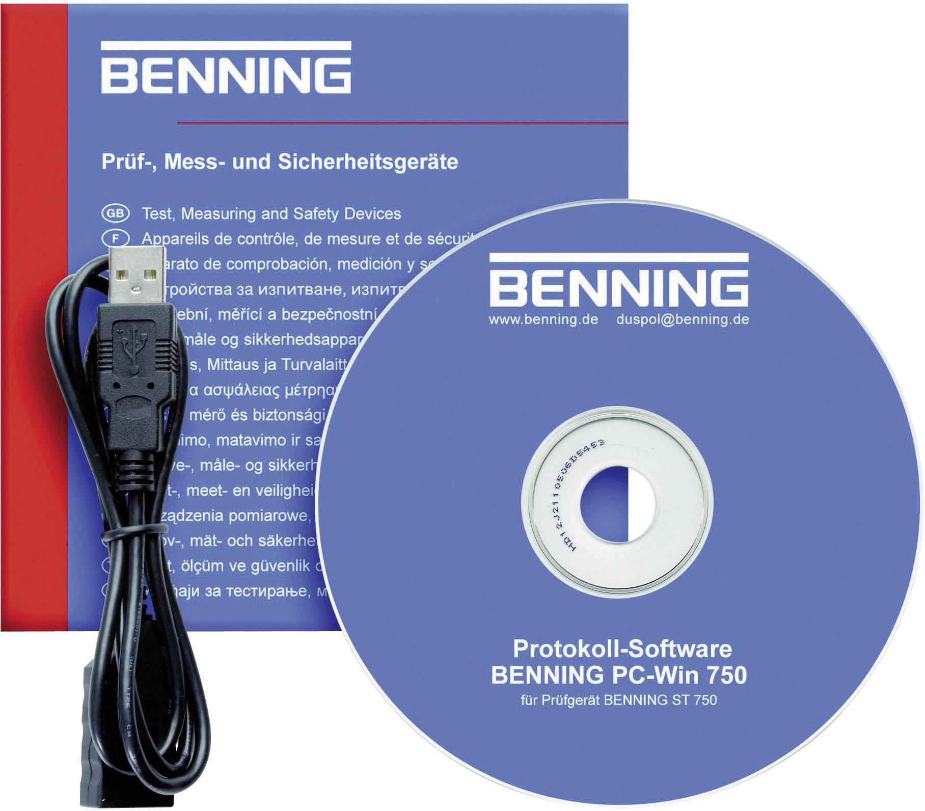 Merací software BENNING PC-Win 750