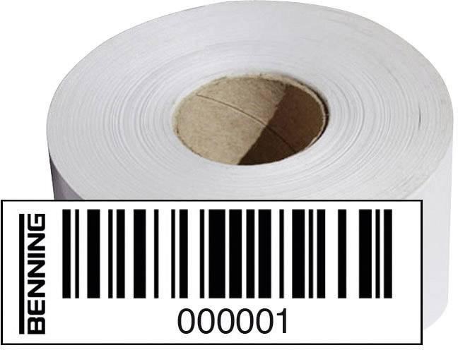 Štítky s čiarovými kódmi Benning pre ST750, Nr. 0001 - 1000