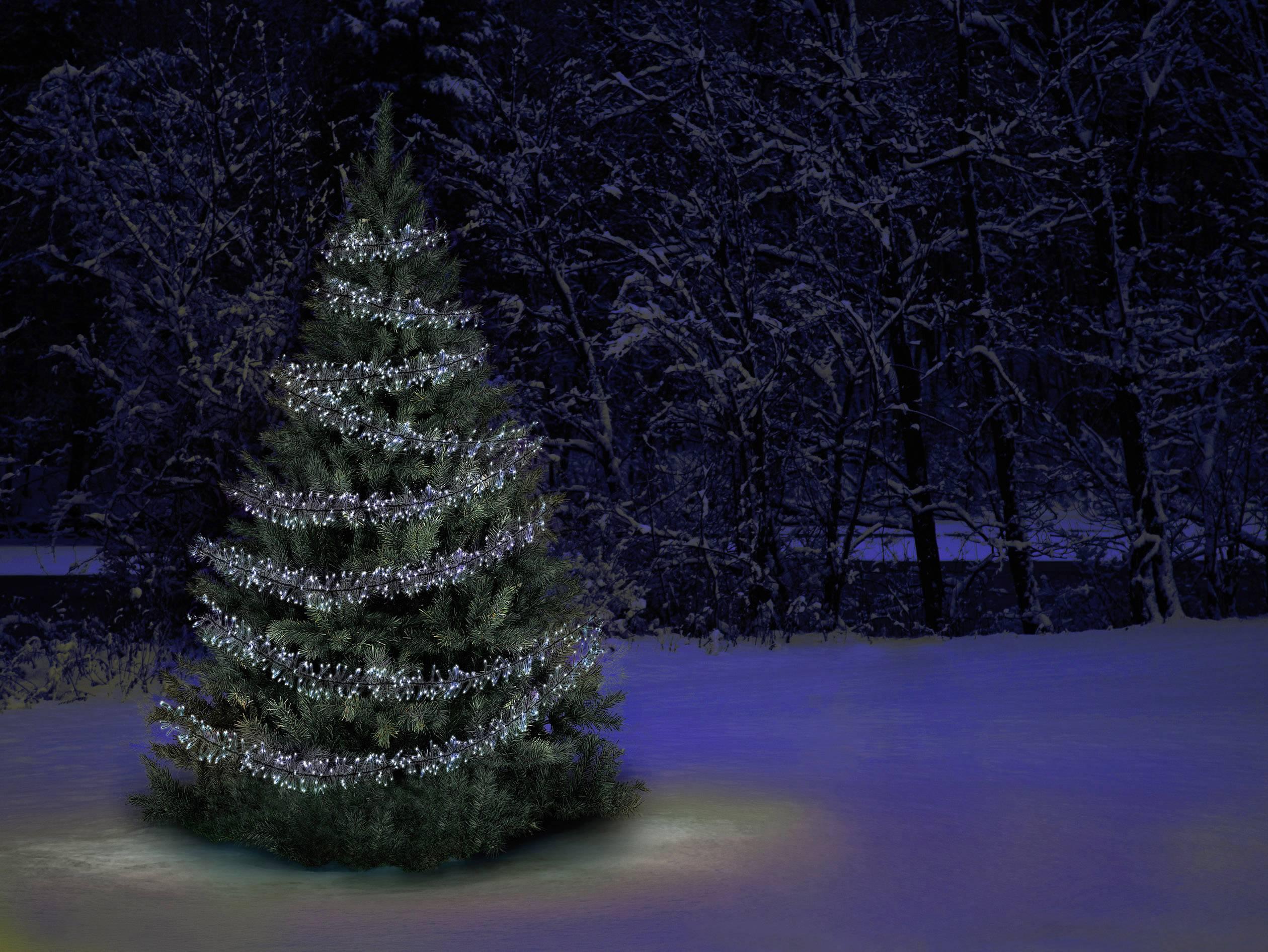 Venkovní vánoční řetěz Polarlite PLC-06-003, do sítě 480 LED, studená bílá, 850 cm