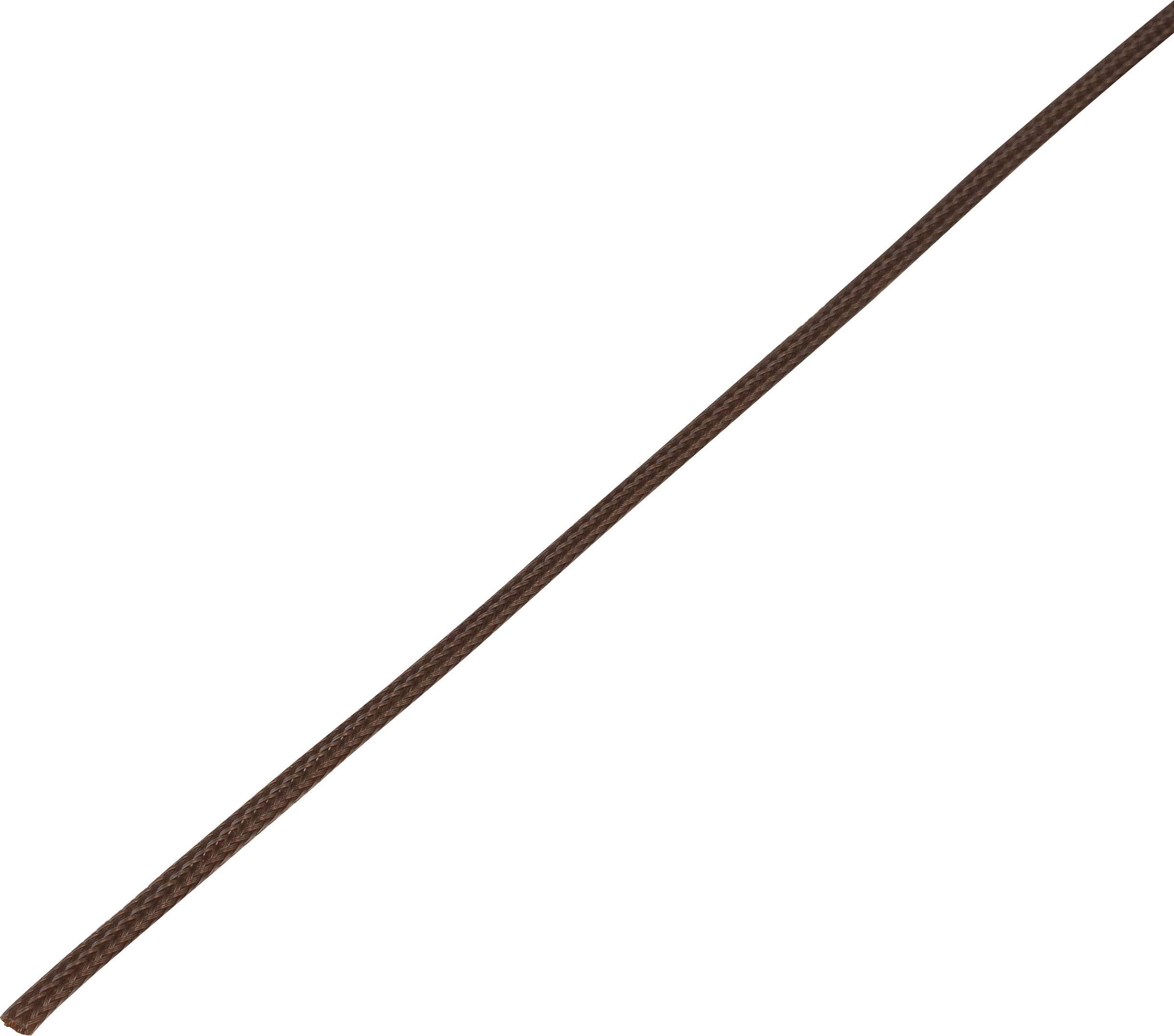 Ochranné opletenie CBBOX0307-BN Ø zväzku: 3 - 7 mm hnedá 10 m