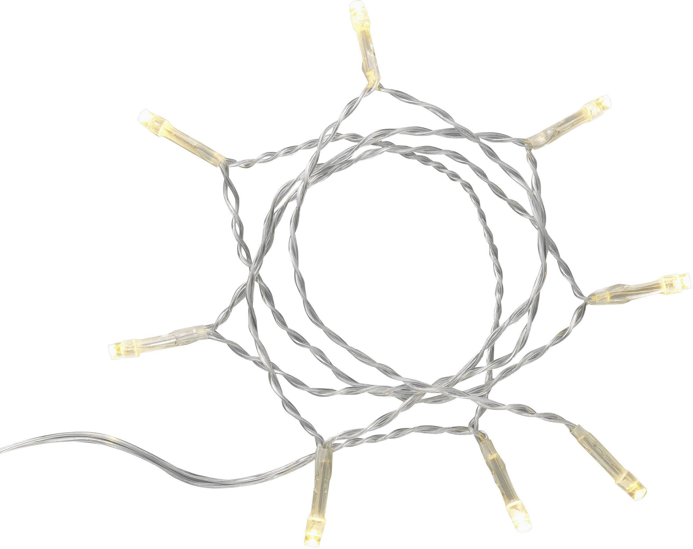Vnitřní vánoční řetěz Polarlite DIY-01-003, do sítě, 8 LED, teplá bílá, 305 cm